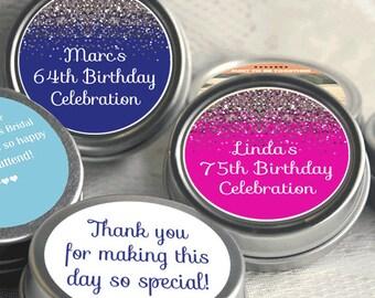 12 Birthday Favors - Birthday Party Favors - Birthday Favors - Birthday Decor - Personalized Favors - Sparkle Birthday Favors