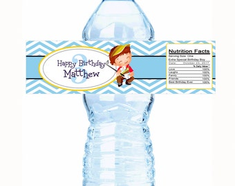 30 Adorable Golf Themed Kids Birthday Water Bottle Labels