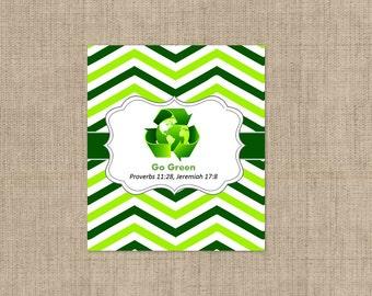 Lip Balm Labels - Personalized Lip Balm Labels - Green Lip Balm labels - 1 Sheet of 12 Lip Balm Labels - Custom Lip Balm Labels