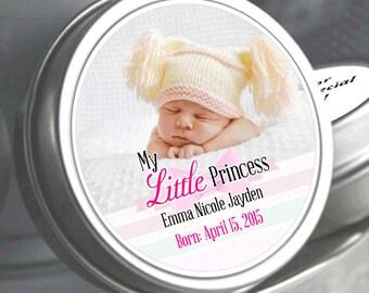 12 - My Little Princess Baby Shower Photo Mint Tin Favors - My Little Princess - Baby Shower Favors - Baby Shower Decor - Photo Favors