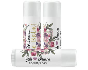 Lip Balm Labels - Personalized Lip Balm Labels - Bridal Shower Lip Balm labels - 1 Sheet of 12 Lip Balm Labels - Custom Lip Balm Labels