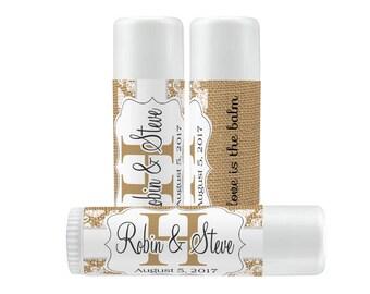Lip Balm Labels - Personalized Lip Balm Labels - Rustic lip balm labels - 1 Sheet of 12 Lip Balm Labels - Custom Lip Balm Labels