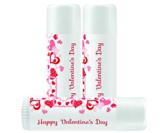 Personalized Lip Balm Labels - Happy Valentines Lip balm labels -  1 Sheet of 12 Lip Balm Labels - Custom Lip Balm Labels