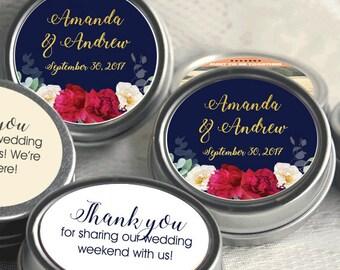 Personalized Wedding Mint Tin Favors - Wedding Favor Mint Tins - Personalized Wedding Favors - Winter Wedding Favors