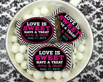 Personalized Love is Sweet Hershey's Mini Chocolates - pack of 100