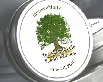 12 Family Reunion Mint Tins - Family Reunion Decor - Family Reunion Party Favors - Family Reunion Candy - Family Tree