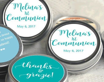 First Holy Communion, Candy Tins, Holy Communion Mint Tins, Communion Favors, Party Favors, Candy Favors, Communion Favors