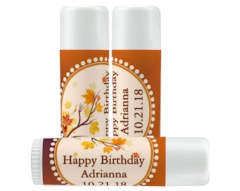 Fall Wedding Favors Lip Balm Labels - Personalized Lip Balm Labels - Birthday  Lip Balm labels - 1 Sheet of 12 Lip Balm Labels