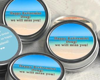 12 Retirement Mint Tins - RetireMints - Beach - Retirement Favors - Retirement Decor - Retirement Mints - Retired Mints - Beach Mints