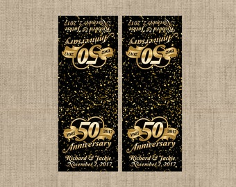 12 - 50th Anniversary Tic Tac Label, Mint To Be Tic Tac Favors, Anniversary, Golden Anniversary, Tic Tac Birthday Labels, Birthday Decor