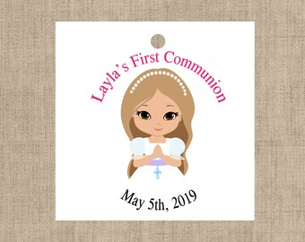 First communion tags - Baptism tags - Holy Communion tag - Christening tags - First communion favor tags