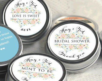 Bridal Shower Mint Tins, Personalized Mint Favor Mint to Be Wedding Favor Personalized Bridal Shower Favor, Baby Shower, Mint Tin Favors