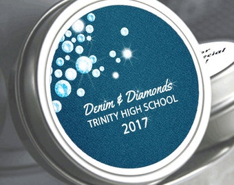 Denim and Diamonds Mint Favors - Denim and Diamond Birthday Favors  - Diamonds - Birthday Candy Containers