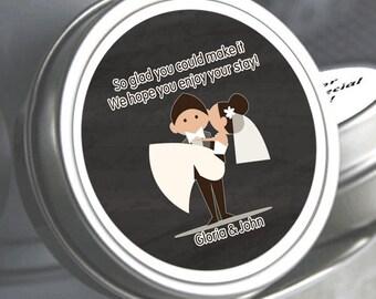 Personalized Wedding Favors - Groom Carrying Bride - Wedding Mints - Wedding Breath Mints - Bridal Shower Favors - Wedding Decor