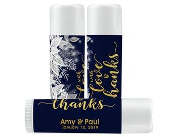 Lip Balm Labels - Personalized Lip Balm Labels - 1 Sheet of 12 Lip Balm Labels - Winter White Poinsettia Colors Lip Balm Labels