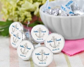 108 Anchor Nautical Hershey Kiss® Stickers - Hershey Kiss Stickers Wedding - Hershey Kiss Labels - Wedding Favors - Wedding Decor