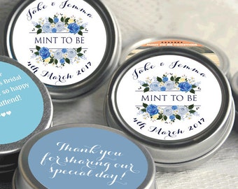 Wedding Decor - Thank You Personalized Mint Tins - Custom Tin Mints - Personalized Wedding Favors - Mint To Be - Custom Mints - Floral