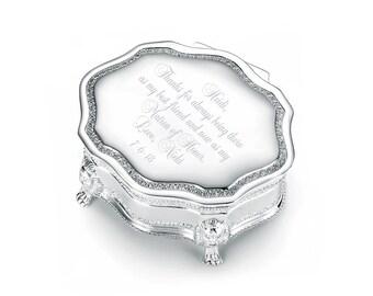 Engraved Victorian Princess Jewelry Box | Engraved Jewelry Box | Bridesmaids Jewelry Box | Maid of Honor Jewelry Box | Flower Girl Gift