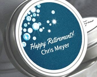 12 Retirement Mint Tins - RetireMints - Denim - Diamonds - Retirement Favors - Retirement Decor - Retirement Mints - Retired Mints - Modern