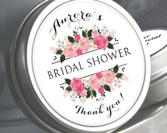 60 Bridal Shower Mint Tins, Personalized Mint Favor Mint to Be Wedding Favor Personalized Bridal Shower Favor, Mint Tin Favors