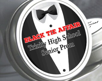 """12 Prom Mint Tin  Favor- Tuxedo Mints - Select the quantity you need below in the """"Pricing & Quantity"""" option tab"""