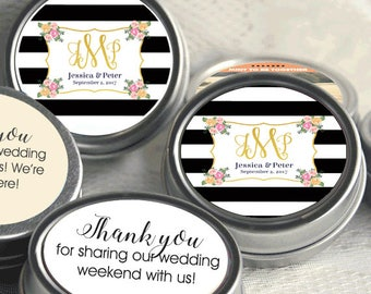 12 Personalized Wedding Mint Tin Favors - Wedding Favor Mint Tins - Personalized Mint Favor - Mint to Be Wedding Favor - Monogram