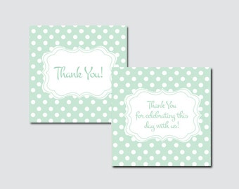 Rustic Sweet Dots Baby Shower Printable Favor Tag - Rustic Sweet Dots Baby Shower Favor Tags - Thank You Tag, Rustic