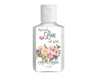 Purell hand sanitizer labels 2 oz. size - Bridal Shower Labels - Hand Sanitizer Labels - Bridal Shower Decor - Wedding sanitizer labels