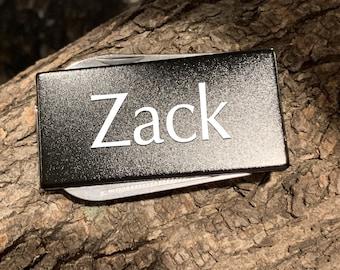 Stainless Steel 3-Tool Black Money Clip Personalized Custom Best Man Gift, Groomsman Gift, Gift for Dad, Boyfriend Gift, Christmas Gift