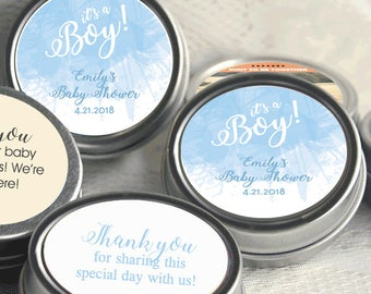 Personalized Baby Shower Mint Tins, Baby Shower Candy, Baby Shower Favors, Baby Shower Decor, It's a Boy Favors, Pink Baby Shower