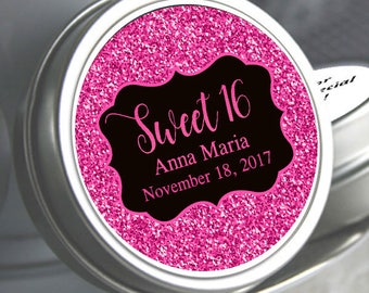 Sweet 16 Favors - Sweet 16 Birthday Favors - Hot Pink Favors - Birthday Favors - Birthday Party Decor - Party Supplies - Pink Glitter