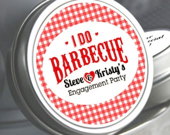 I Do BBQ, Engagement Party Wedding, Bachelorette, Bridal Shower, Personalized Favors - I DO Barbecue - Mint Tins - Wedding Mints