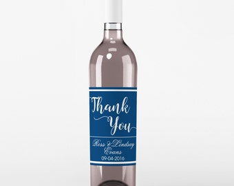 Wedding Wine Label - Custom Wine Label - Personalized Wine Label - Wedding Wine Bottle Label - Monogram Wedding - Thank You Wine Labels