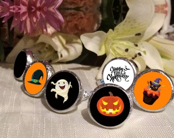 Pumpkin Hershey Kisses Labels - Halloween Kiss Labels - Spooky Kiss Labels - Halloween Decor - Halloween Party Favors - Pumpkin Kiss Seals