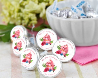 Bridal Shower Cupcake Hershey Kiss® Stickers - Wedding Kiss Stickers  - Candy Labels - Custom Labels - Wedding Favors - Candy Stickers