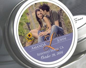 Wedding Decor  - 75 Wedding Favor Mint Tins - Wedding Mints  - Personalized Wedding Favors - Photo Favors - Custom Mint Tins - Candy Mints
