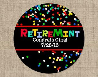 Retirement Stickers -  Colorful Bubbles Design - Retirement Labels - Retirement Decor -Custom Retirement Stickers - Retirement Decor