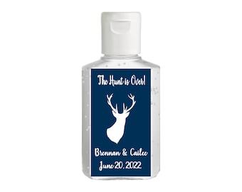 Purell hand sanitizer labels 2 oz. size bottle - Bridal Shower Labels - Hand Sanitizer Labels - Bridal Shower Decor - The Hunt is Over