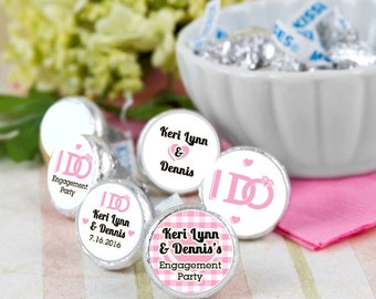 108 Engagement Party Kiss Seals - Engagement Kiss Labels - Candy Labels -  I Do BBQ - Engagement Favors - Engagement Candy Stickers
