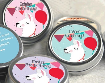 Whole llama Fun - Mint Tin Party Favors - Llama Fiesta Party Supplies - Llama Birthday Party Favors - Llama Baby Shower Favors -  12 - 48 Ct