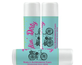 Lip Balm Labels - Personalized Lip Balm Labels - Gold Bubbles labels - 1 Sheet of 12 Lip Balm Labels - Custom Lip Balm Labels - Bachelorette