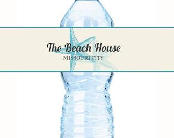 Beach Water Labels - Business Water Bottle Labels  - Starfish Wedding Labels - Starfish Bottle Labels - Starfish Decor - Business Labels