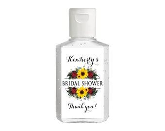 Sunflowers Hand Sanitizer Labels | Rectangular Labels for Purell Sanitizer Bottles