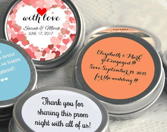 "Personalized Valentine's Heart Mint Tins - Set of 12 - Select the quantity you need below in the ""Pricing & Quantity"" option tab"