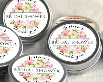 12 Bridal Shower Mint Tins, Personalized Mint Favor Wild Flower Wedding Favor Personalized Bridal Shower Favor, Baby Shower, Mint Tin Favors