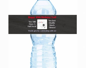 """30 Birthday Water Bottle Labels - Select the quantity you need below in the """"Pricing & Quantity"""" option tab"""