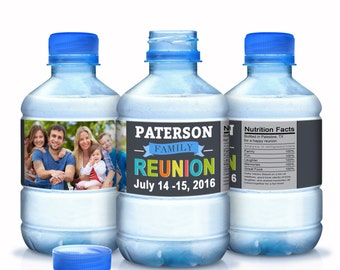 30 Family Reunion Water Bottle Labels, Family Reunion Favors,Reunion Favors, Family Photo, Reunion Decor, Reunion Party Favors