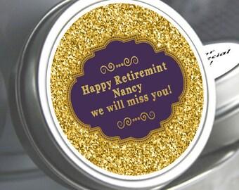 12 Retirement Mint Tins - RetireMints - Matinee - Retirement Favors - Retirement Decor - Retirement Mints - Retired Mints - Retirement Party
