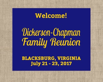 Personalized Family Reunion Welcome Bag Labels - Box Labels - Welcome Stickers - Box Stickers - Multiple Sizes Available