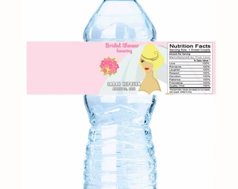 "20 Bridal Veil Bridal Shower Water Bottle Labels - 3 styles - Select the quantity you need below in the ""Pricing & Quantity"" option tab"
